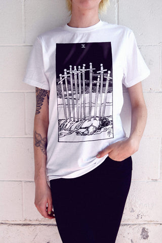 Ten Sword Stab Tarot Card T-Shirt