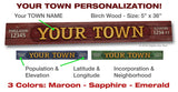 Personalized YOUR HOME TOWN Board