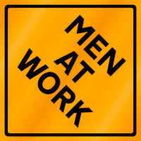 Men At Work Sign INVENTORY SALE!