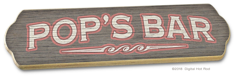 INVENTORY SALE! POP'S BAR Wood Sign