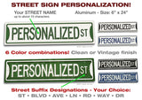 Personalized STREET SIGNS #4