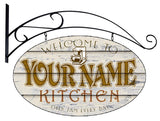 Personalized WELCOME HOME Oval Signs
