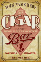 PErsonalized CIgar Bar Sign