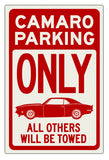 Camaro Parking Sign - Design