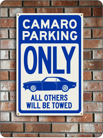 Camaro Parking Only Sign