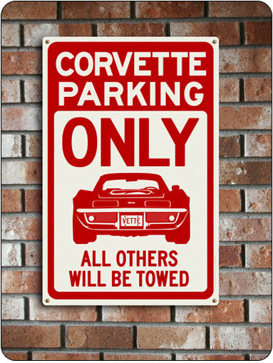 Corvette Parking Sign