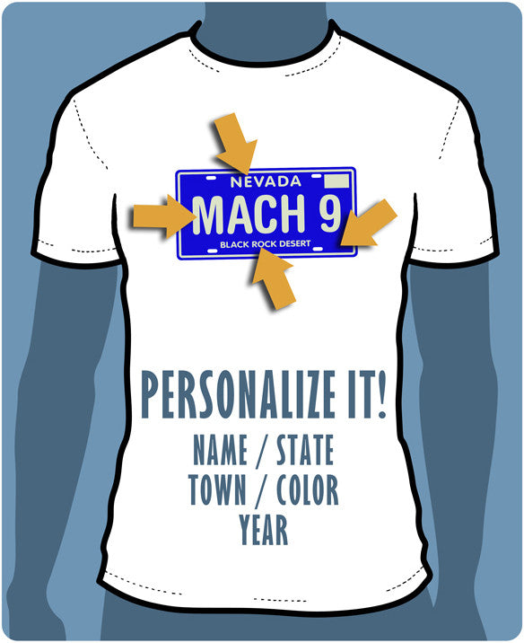 Personalized License Plate Shirt