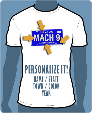 Personalized License Plate T-Shirt