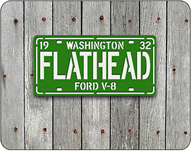 FLATHEAD License Plate Sign