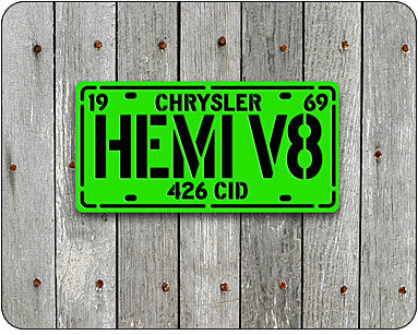 HEMI V8 Laser Cut Metal Sign