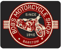 Vintage Motorcycle Personalized - Bob's Motorcycle Shop
