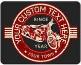 Vintage Motorcycle Personalized - Design