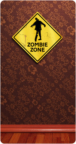 Zombie Zone Caution Sign