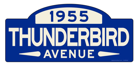 Thunderbird Street Sign - Design