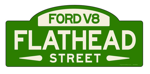 Ford Flathead Street Sign - Design