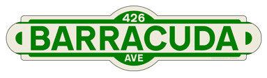 Barracuda Street Sign - Design