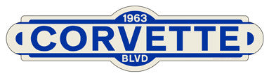 Corvette Street Sign - Design