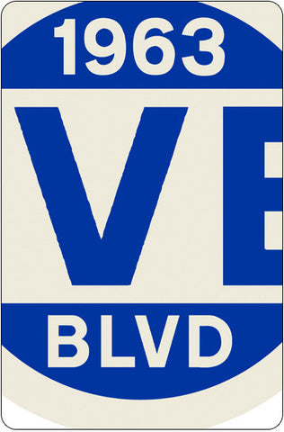 Corvette Street Sign - Detail