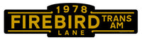 Firebird Trans Am Street Sign - Design