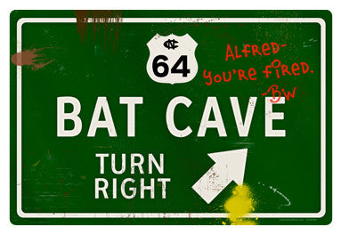 Bat Cave Road Sign - Design
