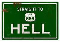 Hell Road Sign - Design