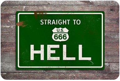 Hell Road Sign