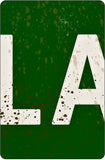 La La Land Road Sign - Detail