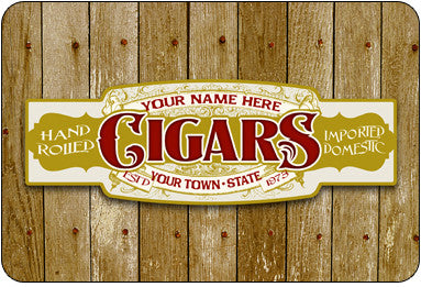 Personalized Cigar Band #2 Sign