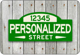 Personalized Street Sign #1 - green