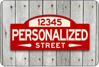 Personalized Street Sign #1 - red