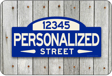 Personalized Street Sign #1 - blue