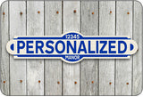 Personalized Street Sign #2 - blue