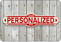 Personalized Street Sign #2 - red