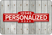 Personalized Street Sign #3 - red