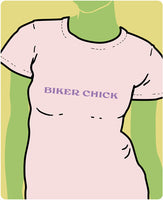 Biker Chick Purple on Pink