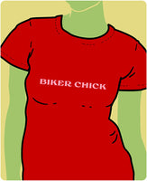 Biker Chick Pink on Red
