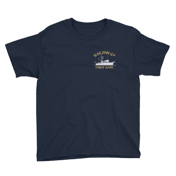 SALISH Cs 42' Grand Banks - Youth Short Sleeve T-Shirt
