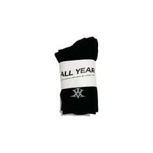 AY CREW SOCKS - BLACK - 3 PAIR PACK