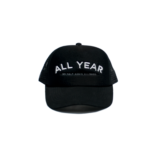 ALL YEAR BLACK TRUCKER HAT
