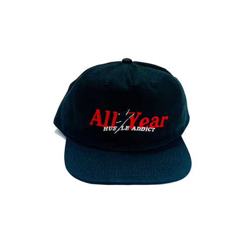 ALL YEAR HUSTLE ADDICT 5 PANEL CAP