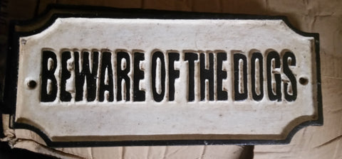"Cast Iron Sign - ""Beware Of The Dog"""