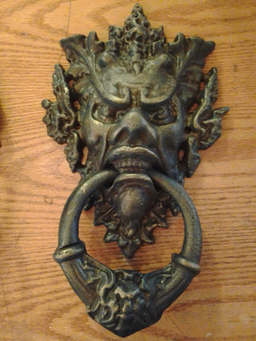 Cast Iron Door Knocker - Heavy Neptune Poseidon Man God