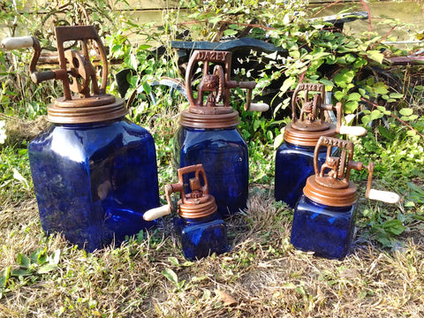 Butter Churn - Dazey Cobalt Blue Butter Churn 5 Piece Set