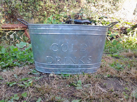 Metal Tin - Cold Drink Bucket