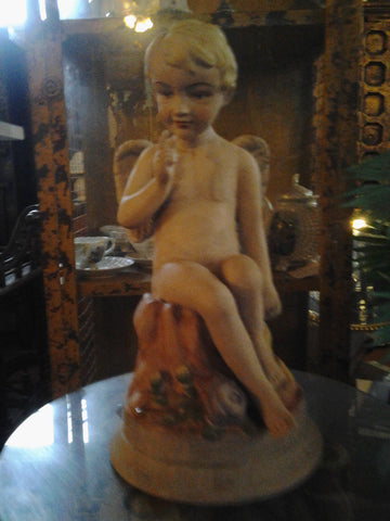 Poly-Resin - Colored Winged Cherub