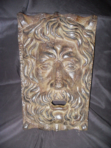 Cast Iron - Gothic Face Wall Art / Fountain Facade