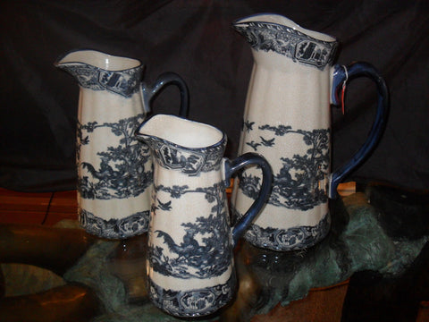 "Porcelain - ""Rooster"" Pitcher Set 3 Piece"