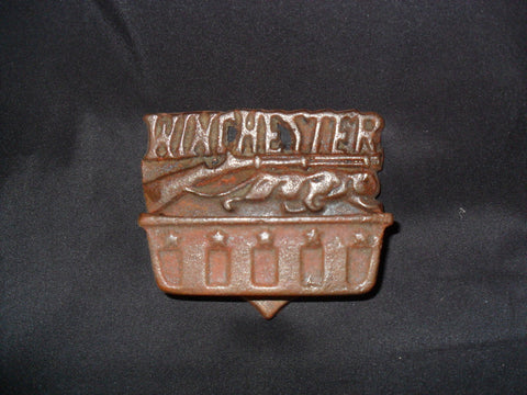 Winchester Matchbox Holder Cast Iron Vintage Style