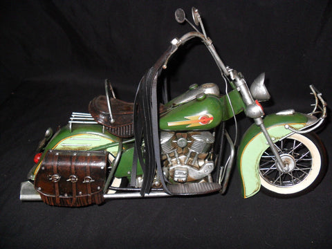 Vintage Style Tin Hand Crafted Motorcycle Model