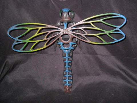 Dragonfly Tealight Holder Cast Iron Wall Mounted